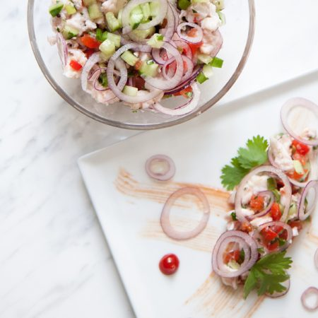 Ceviche z dorsza – bałtycka ryba i cytrusy