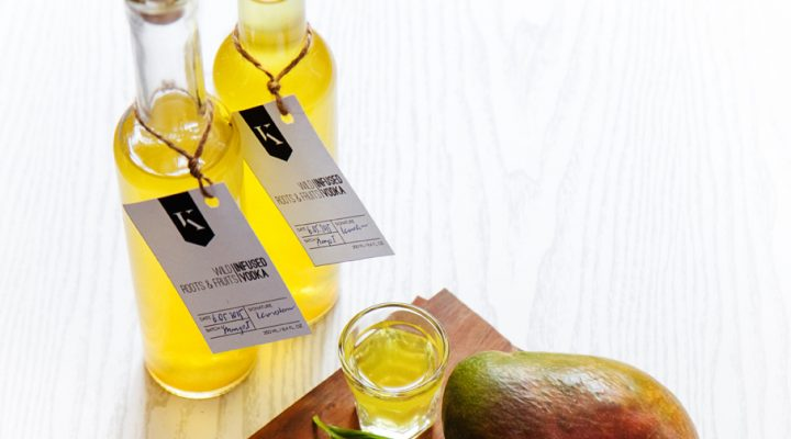 Wódka infuzowana mango, z bazylią