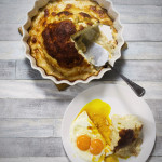 Kalafior gotowany i zapiekany pod gęstym, serowym beszamelem
