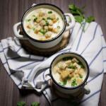 Zupa krem z pieczonym czosnkiem