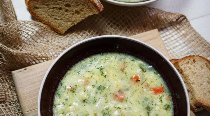 Zupa koperkowa z lanymi kluseczkami