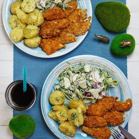 Kurczak pieczony w panierce – chrupiący i soczysty!