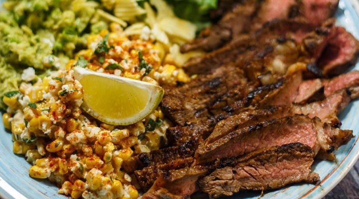 Stek wołowy w marynacie Tex-Mex– meksykański talerz