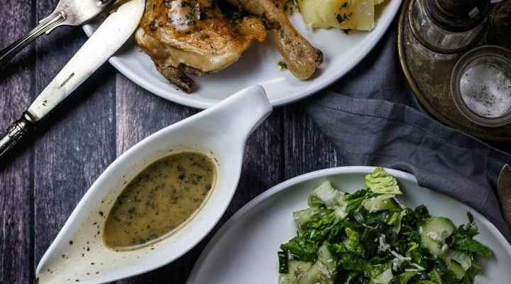 Kurczak pieczony na płasko cytrynowo-tymiankowy, z szybkim sosem