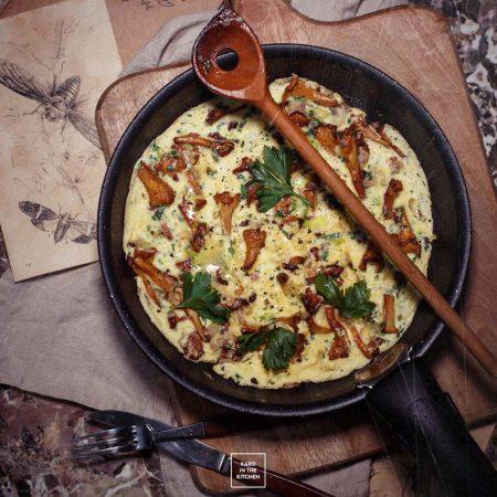 Francuski omlet z kurkami