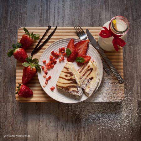 Naleśniki – zeberki, z serem i z truskawkami