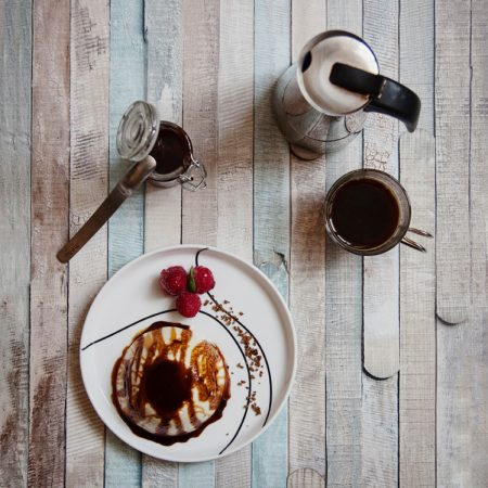 Panna cotta z sosem kawowym