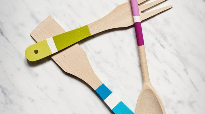 DIY – malujemy drewniane narzędzia kuchenne
