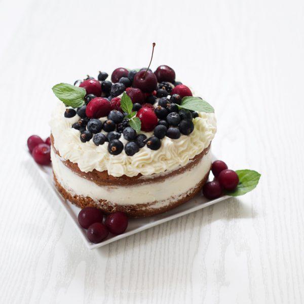 Ciasto na herbacie Earl Grey z owocami i kremem budyniowym
