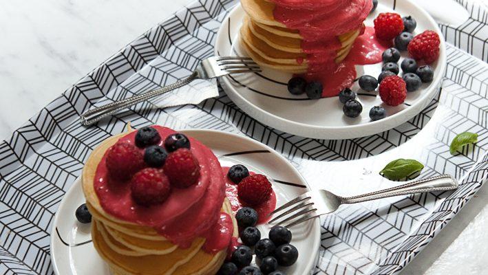 Pancakes sernikowe – na jogurcie greckim