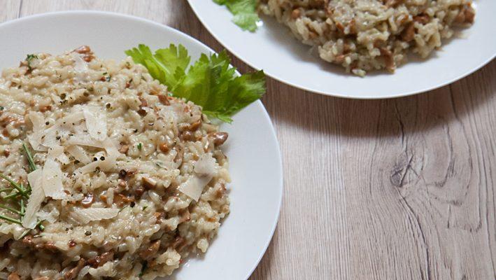 Risotto z kurkami i karmelizowaną cebulką