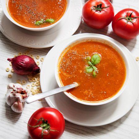Zupa pomidorowa z grillowanych pomidorów