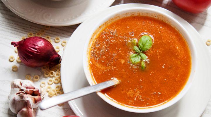 Zupa pomidorowa z pieczonych / grillowanych pomidorów