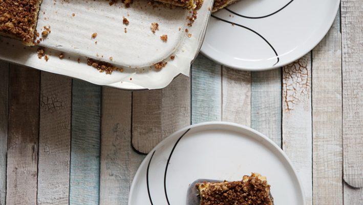 Kostka czekoladowa – kruche owsiane ciasto z cytrusowym kremem