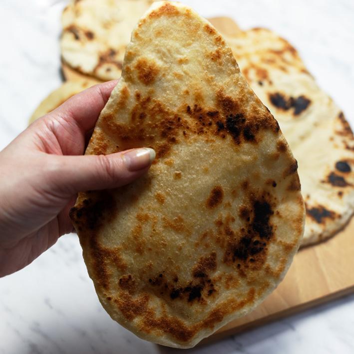 Indyjskie Pieczywo Chlebki Naan Karo In The Kitchen