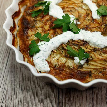 Zapiekane młode ziemniaki – wiosenne gratin dauphinois