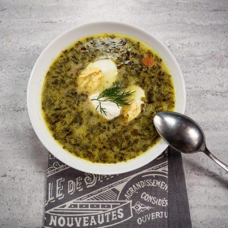 Zupa szczawiowa ze świeżego szczawiu