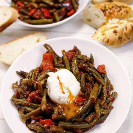 Fasolka szparagowa w pomidorach – pikantna i śródziemnomorska