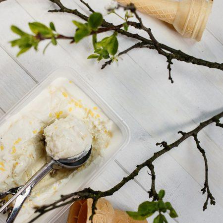Lody miodowe z solą morską – domowe lody bez maszynki