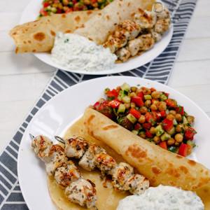 Souvlaki – greckie szaszłyki z kurczaka
