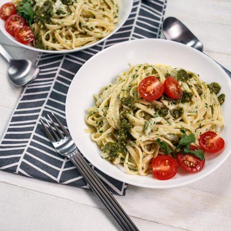 Spaghetti z trzema serami