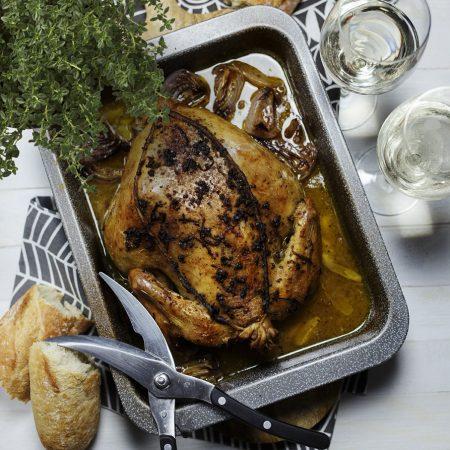 Kurczak pieczony po toskańsku – wiązanie kurczaka