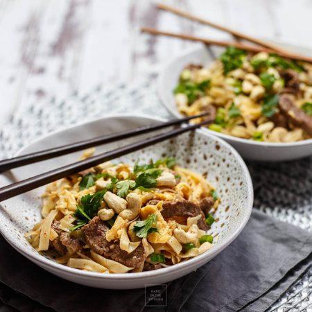 Pad thai z wołowiną