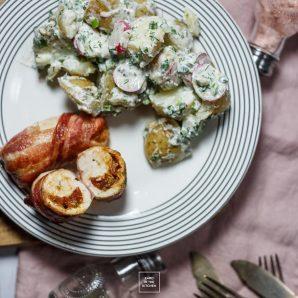 Roladki z piersi kurczaka – potrójnie mięsne