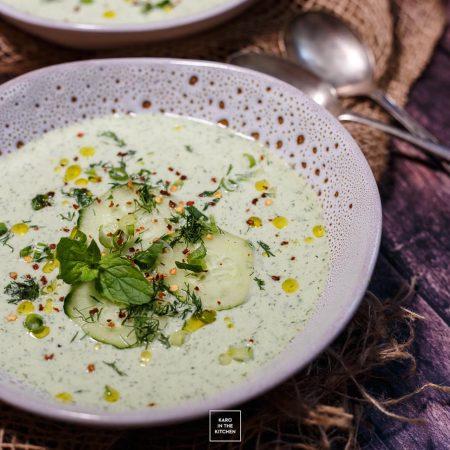Obiad na upały – chłodnik ogórkowy z Dijon