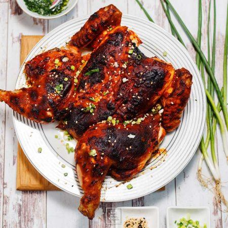 Pikantny kurczak w paście chili Gochujang