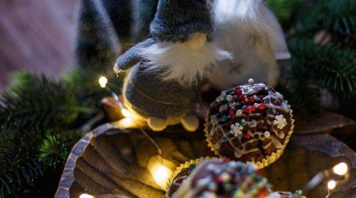 Muffinki piernikowe do dekoracji