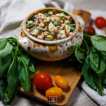 Sałatka z tuńczyka i ciecierzycy + cytrynowy winegret