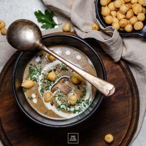 Aksamitna zupa grzybowa z mrożonych podgrzybków
