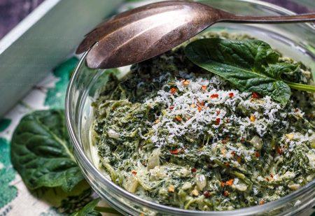 Szpinak kremowy – gęsty i dobrze doprawiony