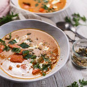Tajska zupa z dyni Hokkaido